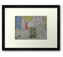 Aswald The Anteater At The Fruit Grove Framed Print