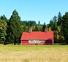 Stage Coach Hills Red Barn  by Chuck Gardner