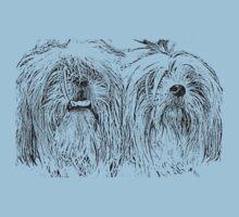two shitzu dogs by JudyBJ