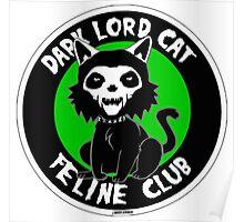 DARK LORD CAT FELINE CLUB Poster