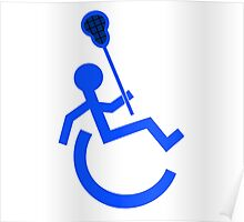Wheelchair Lacrosse Funny Symbol Poster