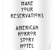 Make your reservations Poster