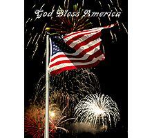 God Bless America Photographic Print