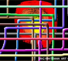 (A RIDE TROUGH CYBERSPACE) ERIC WHITEMAN ART  by eric  whiteman