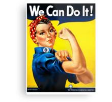 Rosie the Riveter - US World War II Propaganda Poster Metal Print