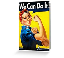Rosie the Riveter - US World War II Propaganda Poster Greeting Card