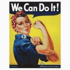 Rosie the Riveter - US World War II Propaganda Poster by docdoran