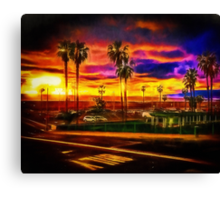 Inspired By A Faraway Sunset I Ran To The Beach Canvas Print