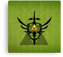 Zelda Link Triforce Canvas Print