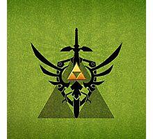 Zelda Link Triforce Photographic Print