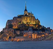 Twilight on Mont Saint Michel by PAOLO GERLIN