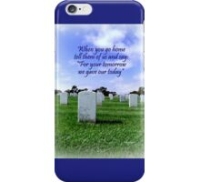 Loss and Courage iPhone Case/Skin