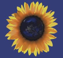 """Sunflower Eclipse"" Earth Sun One T-Shirt"