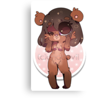 KAWAII chocovii Furry Chibi Mascot Canvas Print