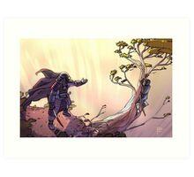 Samurai and Son Art Print