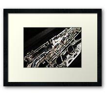 Tenor Sax Keys Framed Print