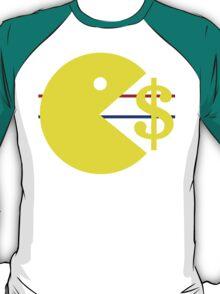 Pac-Man eats Money T-Shirt