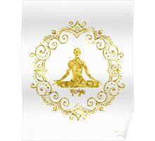 Yoga Golden Poster