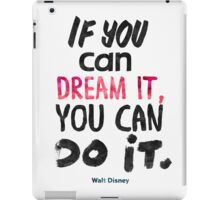 Walt Disney quote print iPad Case/Skin