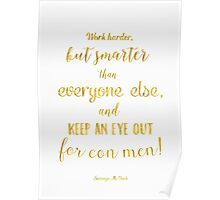 Scrooge McDuck quote Golden Poster