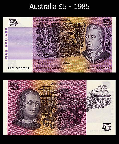 Australia $5 - 1985 by Robert Abraham