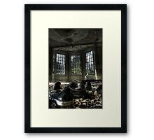 Left in a hurry Framed Print