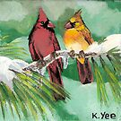 Pair of Cardinals by Karen Yee