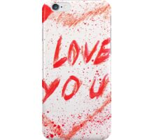 I love you heart stained iPhone Case/Skin