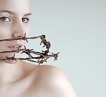 Barbed wire by Moijra