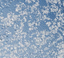 Snow and water condensation abstract Sticker
