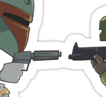 HUNTER VS SOLDIER Sticker