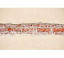 Red bricks broken wall Photographic Print