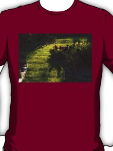 Green Garden Path - Impressions Of Spring T-Shirt