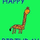 Happy Birthday Giraffe (Issy age 5) by jeciaissy