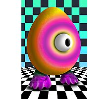 Saturated Egg Man on the Chess Board Photographic Print