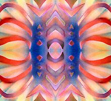 Peach Flavored Solarized Ribbons by BethofArt