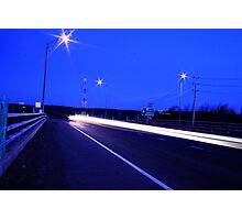 HighWay Light Night Run Photographic Print