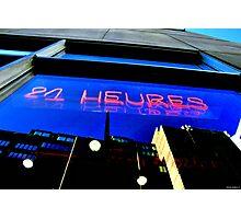 24 hrs Window Photographic Print
