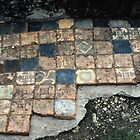 Floor tiles Ruins of abbey Rievaulx North Yorkshire England 198406020068 by Fred Mitchell