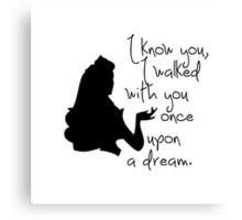 Disney Princesses: Aurora (The Sleeping Beauty) *Black version* Canvas Print