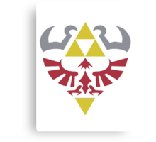 Shield of Hylian (Triforce - Zelda) Canvas Print