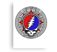 Mayan Calendar Steal Your Face - Basic Color Canvas Print