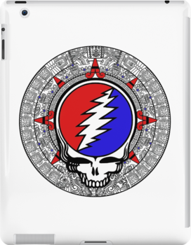 Mayan Calendar Steal Your Face - Basic Color by Jessica Bone