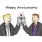 Gay male Happy Anniversary by KateTaylor
