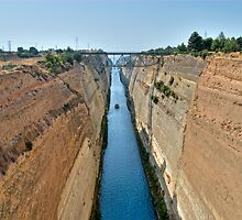 Corinth Canal by Nathan T