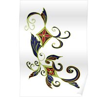 Abstract Floral Ornament Poster
