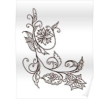 Abstract Floral Ornament 4 Poster