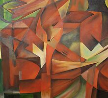 """Foxes"" -  Homage to Franz Marc (1913)     by taiche"