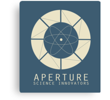 Aperture Science Old Logo With Text Canvas Print
