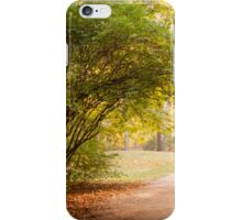 Yellow and green autumn leaves iPhone Case/Skin